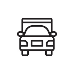 truck, delivery truck outlined vector icon. Modern simple isolated sign. Pixel perfect vector  illustration for logo, website, mobile app and other designs