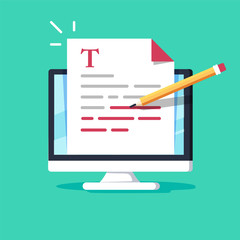 Online education, creative writing and storytelling, copywriting concept, editing text document, distant learning