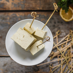 tofu - soy product (pieces of cheese)