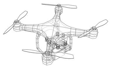 Qadrocopter or drone. Vector