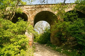 Bridge to Klevan castle. Rivne region. Ukraine