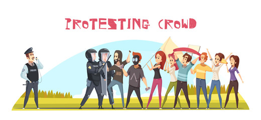 Protesting Crowd Poster