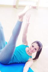 Pilates workout at gym