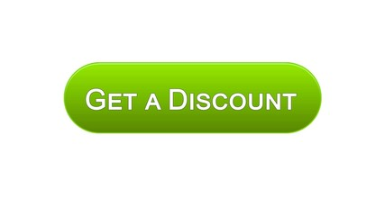 Get a discount web interface button green color, online shopping application