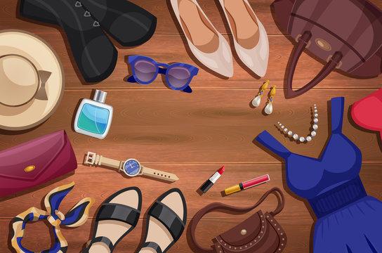 Women Accessories Illustration Background