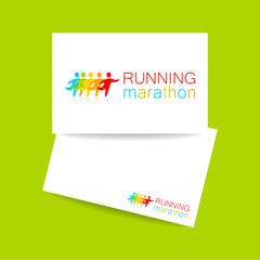 running marathon template design