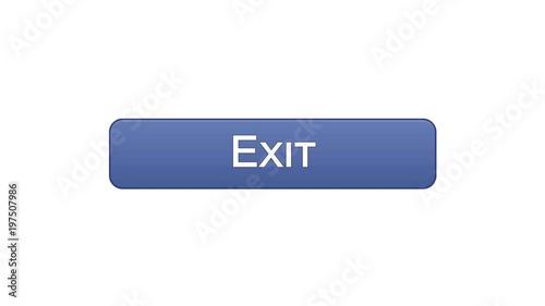 Exit Web Interface Button Violet Color Application Log Out