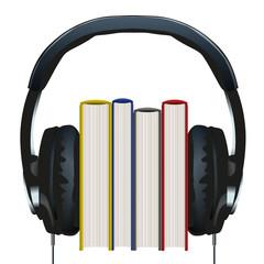 livre - casque audio - multimédia - bibliothèque - roman - lecture - littérature - téléchargement
