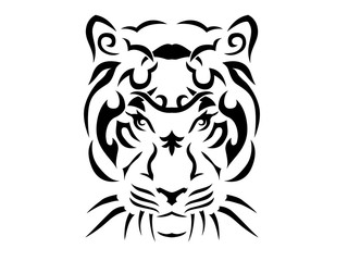 Tribal tiger illustration