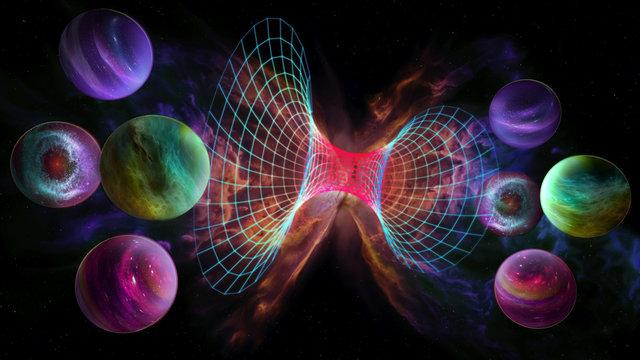 parallel universe 3d illustration