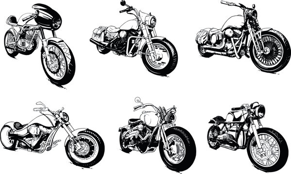 Vintage Custom Motorcicle Graphic Poster Illustration.