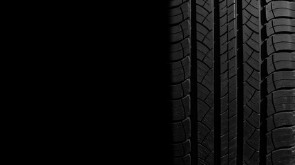 new tire texture in the dark for background