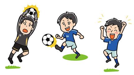 サッカー選手のイラスト素材セット