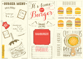 Template Menu for Burger House