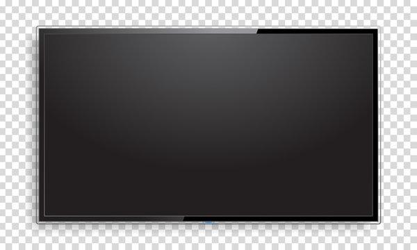 Realistic TV screen mock up