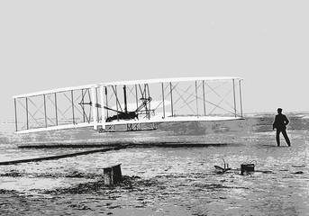 Frères Wright - avion - aviation - invention - inventeur - historique - personnage célèbre
