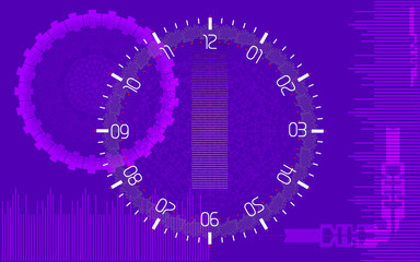 High-tech background. Vector background in violet tones and elements of futuristic technology.