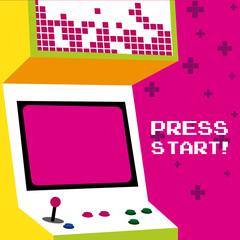 Press start to play arcade