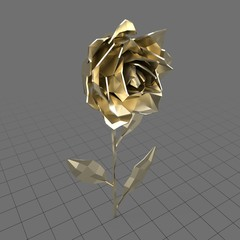 Gold rose with open petals