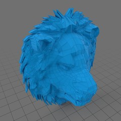 Abstract stylized lion head