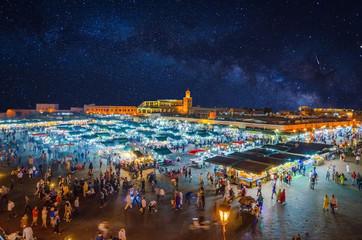 Jamaa el Fna market square in Marrakesh's medina, Marrakesh, Morocco