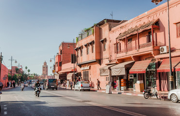 Beautiful street of old Marrakesh, Morocco