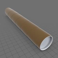 Cardboard poster tube