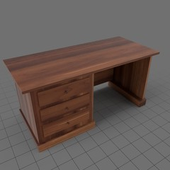 Desk with three drawers