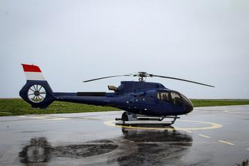 Hubschrauber, Detail eines Hubschraubers