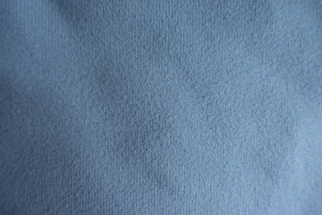 Blue acrylic, cotton, polyamide fabric from above