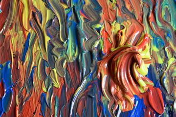 Fotobehang Paradijsvogel La tavolozza per mescolare i colori