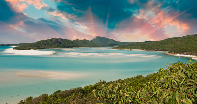 Colors of Whitehaven Beach, Australia