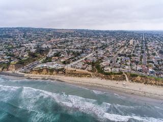 Aerial view of La Jolla Palisades park, San Diego, CA