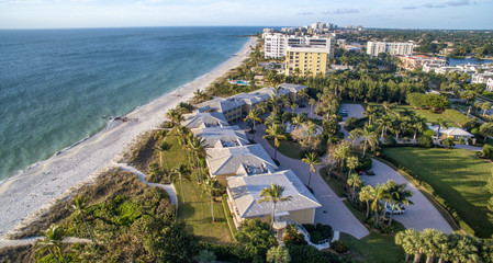 Aerial view of Naples Beach, Florida