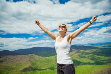 Woman Hking in Shenandoah National Park