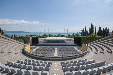 amphitheater of the Vittoriale on Lake Garda