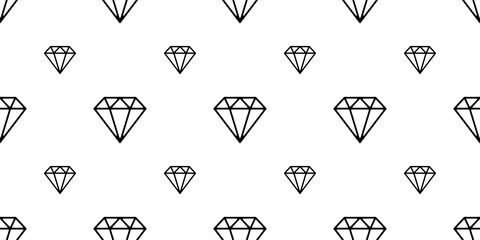 diamond gem seamless pattern crystal jewelry isolated vector wallpaper background white