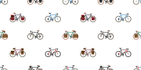 bicycle Seamless Pattern vector cycling isolated vintage wallpaper background illustration graphic