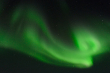 Aurora ,Northern lights in the night sky.