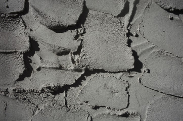 Grey cement on wall