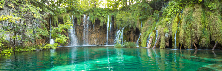 Plitvice Lakes, Croatia Waterfall. Amazing Place.