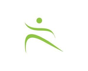 Спортивный логотип,, бег, легкая атлетика, фитнес