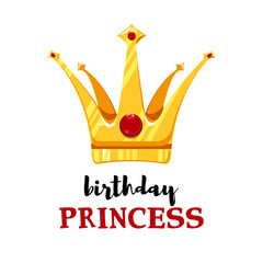 Birthday card with cartoon crown