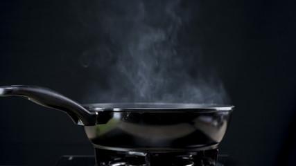 Frying pan steaming