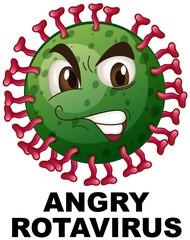 Close up of angry rotavirus