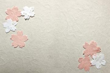 桜、春、和紙、切り絵、花、背景、テクスチャ