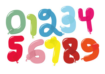 Balloon Numbers 0-9