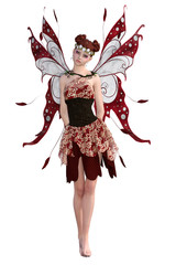 Beautiful Magical Fairy isolated on white. 3d render