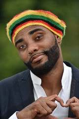 Adult Black Jamaican Man And Love