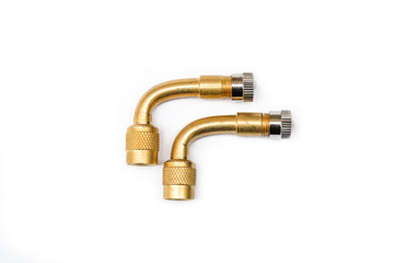 Pair of 90 Degree Brass Filling Air Pipe For All Vehicle.